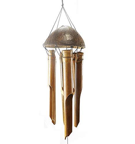 Carillon éolien/Cloche à Vent en Bambou et Noix de Coco, pour Le Jardin.