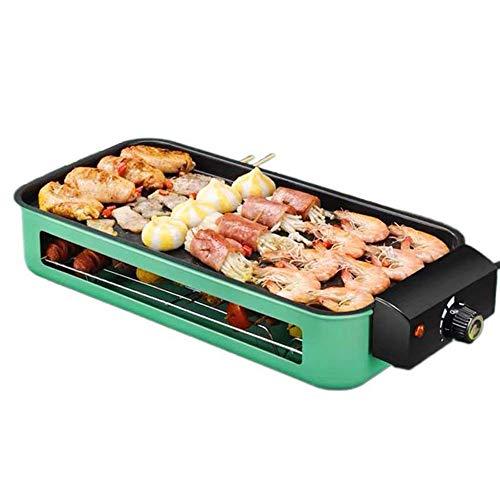 Grills - Parrilla eléctrica para barbacoa con regulador de temperatura ajustable, placa...