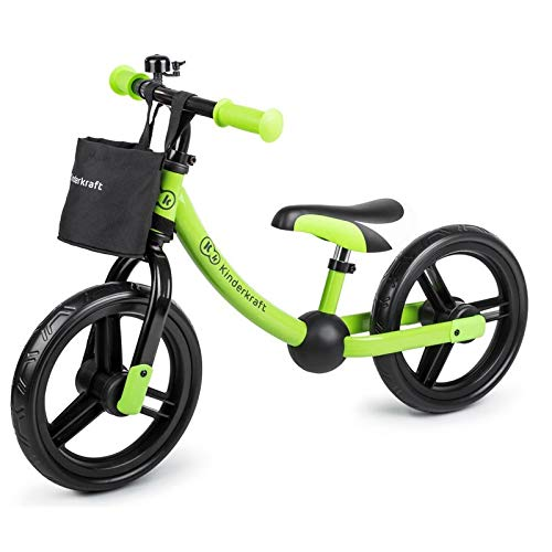 kk Kinderkraft Baby Balance Bike Cutie Lightweight Kids First Bicycle Kinderkraft Bicicleta de Aprendizaje, Unisex/bebé, Verde, Small