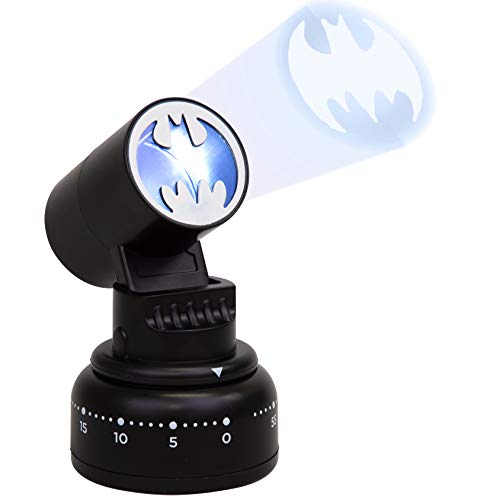 DC Comics Batman Kitchen Timer - Bat Signal Lights Up When Done - Cook Like a Super Hero - Justice League Gift for Men