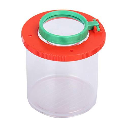 WANGQ Lupendose, observador de insectos, vaso, lupa con lupa, lata plegable, transparente,...
