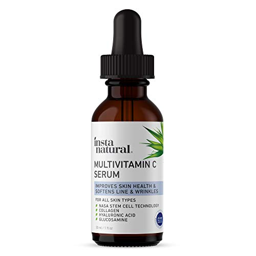 41w4AtCO pL - Vitamin C Serum for Face - Natural Anti Aging, Brightening & Hydrating Facial Care - Improves & Strengthens Skin Health - Nourishing Lines & Wrinkle Treatment - With Hyaluronic Acid & Collagen - 1 oz