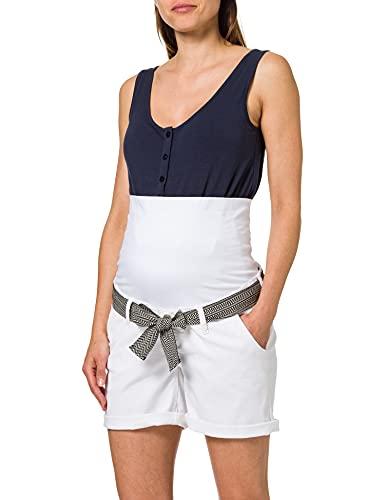 Noppies Shorts OTB Edgewood Pantalones Cortos, Every Day White-P150, XL Mujer