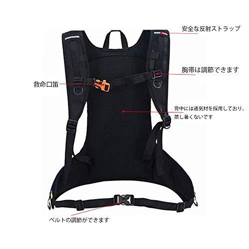 Ankulyサイクリングリュック軽量防水豊かなポケットバックパックリュックアウトドアジョギングスポーツバッグ反射ストラップ付ランニングバッグ大容量通気快適自転車バッグ(ブラック)