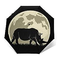Rhino On TheMoon自動三つ折り傘パラソルサン傘サンシェード