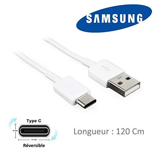 Acce2S - Câble USB-C Original 120 cm pour Samsung Galaxy A21s - A31 - A41 - A51 5G - A71 - A51 - A80 - A40 - A70 - A20e - A50 - A9 (18) - A8 2018 - A5 2017 - A3 2017 - A7 2017