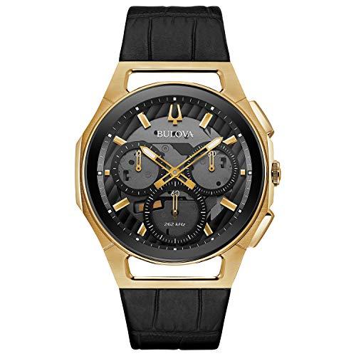 Bulova 97A143 - Reloj cronómetro para hombre, correa de esfera gris y negro