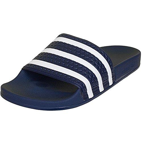 Adidas Adilette - Ciabatte da bagno, Blu (Navy White), 43 EU