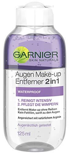 Garnier Augen Make up Entferner 2in1 Waterproof, pflegt die Wimpern mit Arginin, entfernt wasserfests Makeup (6 x 125 ml)
