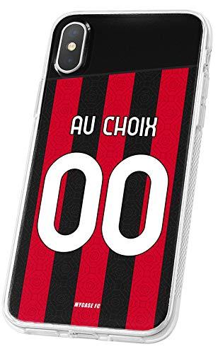 Cover Calcio Personalizzabile AC Milan ASUS Zenfone 3 Max ZC520TL in Silicone, Custodia da Calcio per Smartphone Personalizzata e Made in France in Francia