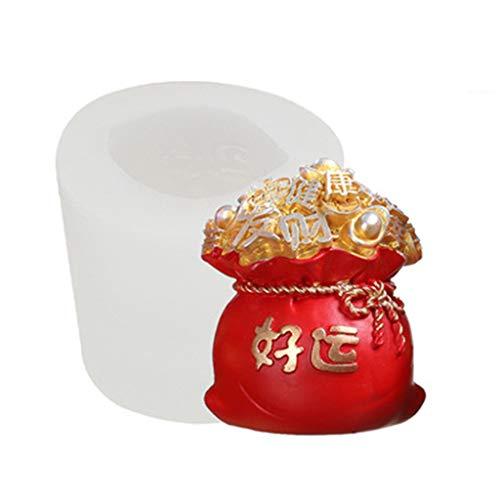 liaobeiotry 3D Neujahr Silikon Kerzenform, die Schokoladen-Mousse-Kuchen-Gips-Form Eid Mubarak, Ostern