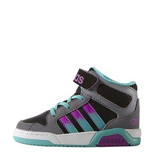 adidas BB9tis Mid Inf–Schuhe für Kinder, Mehrfarbig - Schwarz/Pink/Türkis - Größe: 22