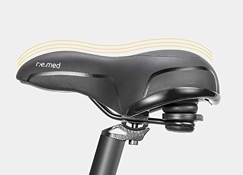 YUNXING Bicicleta Accesorios Ciclismo Sillín MTB Athletic Hollow Transpirable Memoria Espuma Esponja Cojín Amortiguador Bicicleta Silla Unisex Negro