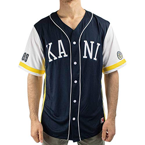 Karl Kani Herren Shirt College Baseball dunkelblau M