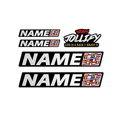 JOllify WUNSCHNAME Aufkleber - Fahrername Sticker Set 10cm - Name als Wunschtext