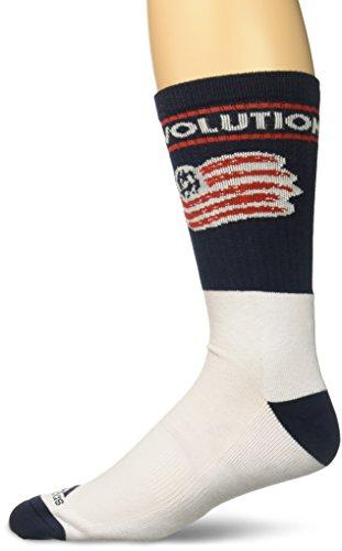 adidas Men's Team Name & Logo Crew Socks, Navy, Size 12-15