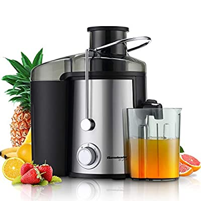 Juicer, Homeleader Juice Extractor for 3 Speed, Centrifugal Juicer Machine with Wide Mouth for Fruits and Vegetables, 600W, BPA-FREE