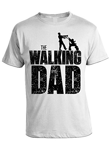 bubbleshirt Tshirt The Walking Dad - Festa del papà - Happy Father's Day - in Cotone by