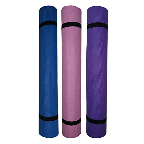 jin EVA Yoga Mat - Non Slip Carpet Pilates Gym Sports Exercise Pads for Fitness (Purple)