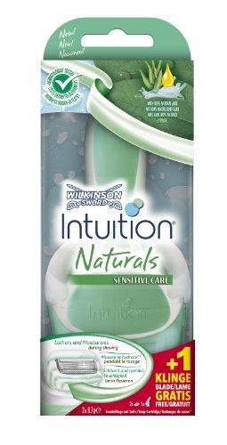 Wilkinson Sword Intuition Naturals Apparat mit 2 Klingen und Halterung