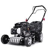 BRAST Tondeuse thermique traction arrière 41cm 144cc 4,1cv 2.800 trs/min moteur de marque 4 temps 40l réglage central...