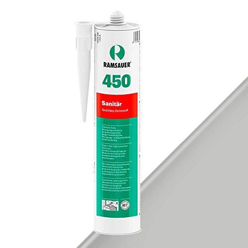 Ramsauer 450 Sanitär 1K Silikon Dichtstoff 310ml Kartusche (Hellgrau)