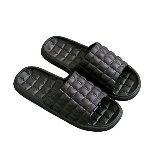 Anlemi Suela Suave Zapatos De Piscina Casa,Zapatillas de baño de Suela Blanda para el hogar,Zapatillas Exteriores Antideslizantes-Negro_42-43,Chanclas Punta Abierto Transpirable