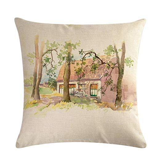 KYMLL Arrangement de Fleurs carré taie d'oreiller Couvre Housse de Coussin élégant pour canapé Doux décoratif
