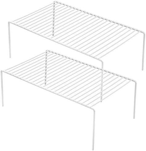 iPEGTOP 2 Pack Large Freezer Cabinet Storage Shelf Rack Rustproof Stainless Steel Kitchen Organizer product image