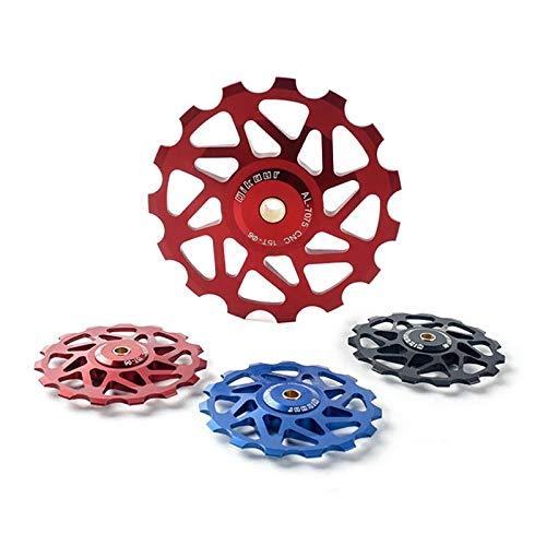 LMIAOM Qikour CNC Fahrrad Schaltwerk 13T Pulley Rad mit Lager Radfahren Mountainbike-Guide Reparaturwerkzeug für Zubehörteile (Color : Red)
