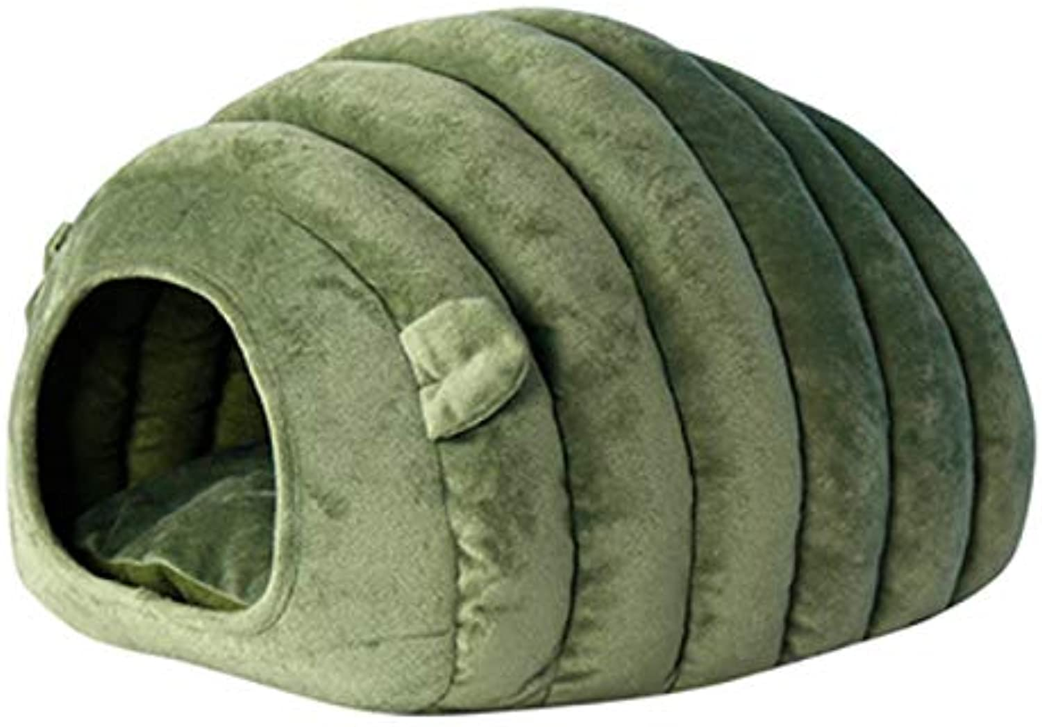 Deep Sleep, Closed cat Room, cat House cat House Winter Warm cat Sleeping Bag, Suitable for Pets Below 6kg (color   Green)