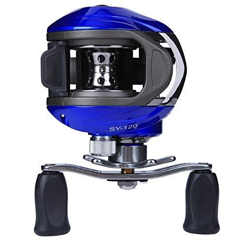 Carrete de Pesca Peso Ligero Duradero Alta Velocidad Baitcasting Carrete de Pesca 14 Ejes Carrete de fundición Fuerza magnética Freno Aparejo de Rueda de Pesca(Mano Derecha)