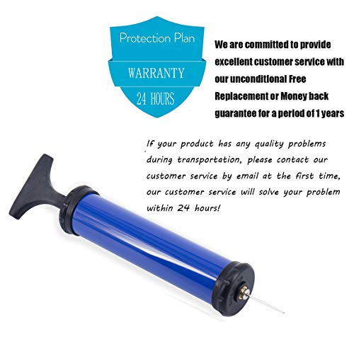 TONUNI Portable Air Pump,Ball Pump Inflator Kit with Needle,Nozzle, Extension Hose for Soccer Basketball Football Volleyball Water Polo Rugby Exercise Sports Ball Balloon Swim Inflatables(Blue)