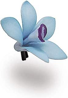 Hawaii Hair Clip Foam Flower Blue Purple Orchid