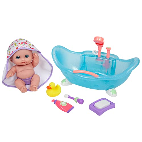 """JC Toys Designed by Berenguer Baby Play Dolls, Pink, Purple, 8.5"""""""