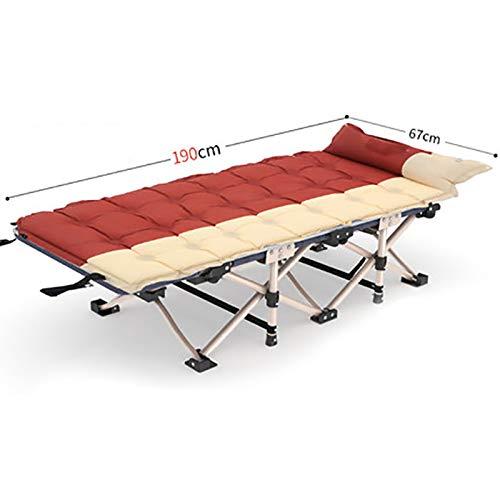 BLWX-Klappstuhl-Klappbett Einzelbett Einfaches Nickerchen-Bett Liegendes Marschieren Begleitbett Portable Lunch Bed Erwachsene Haushalt Klappstuhl (Farbe : B)