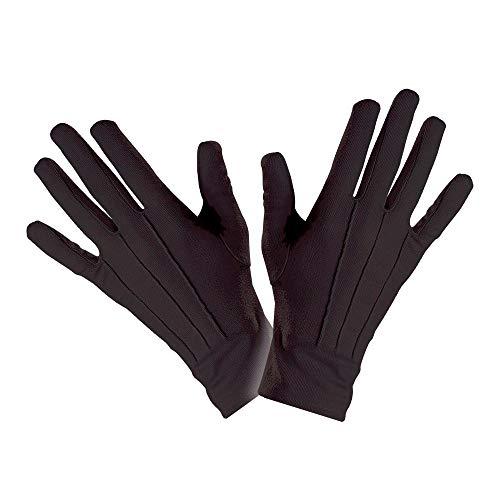 WIDMANN Black gloves (accesorio de disfraz)
