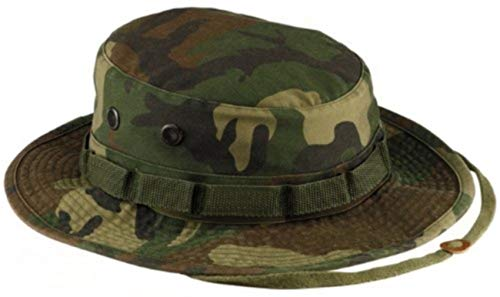 Boonie Hat Chapeau Brousse Jungle US Army Commando Trooper - Coloris Woodland Camouflage - Taille XLarge - Airsoft - Paintball - Chasse - Pêche - Randonnée - Outdoor