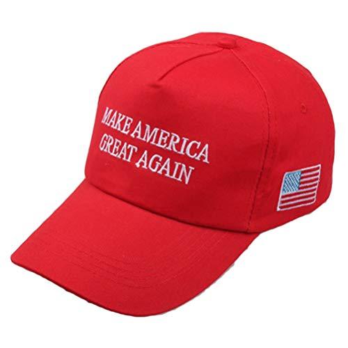 Neborn Gorra Ajustable de America Make Again Great Donald Trump Gorra de béisbol de Malla Republicana (Rojo)
