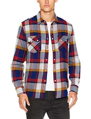 Lee Herren Freizeithemd Rider Shirt, Elfenbein (Blueprint Lh), X-Large
