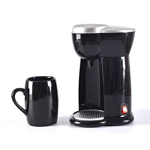 DJK 140 ml Mini máquina de café portátil de casa Americana, 230V Goteo automático máquina de café Sola Taza para el hogar y la Oficina
