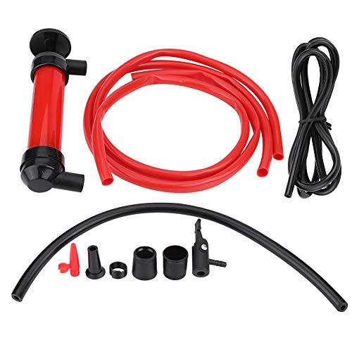 Pompa a sifone, Fydun Potabile 200cc 5L/min Pompa a sifone per auto manuale Tubo Estrattore di olio Pompe per aria a trasferimento di liquido