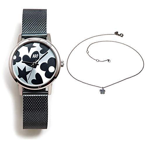 Set Agatha Ruiz de la Prada Agr250 Uhr Steel Blue Silber Collier 925m Law Zirkone - Modell: Agr250