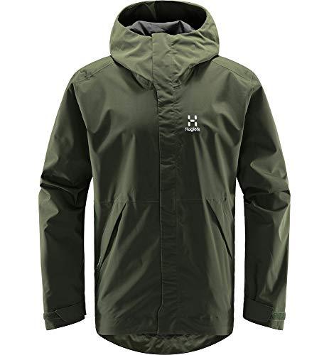 Haglöfs Hardshelljacke Herren Hardshelljacke Tjärn Jacket Wasserdicht, Winddicht, Atmungsaktiv Fjell Green L L