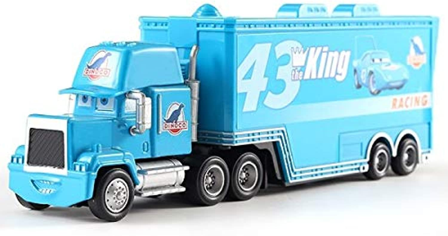 Generic Cars Disney Pixar Cars Mack Uncle No.43 King Diecast Metal Plastic Toy Car Loose 1 55 in Stock Disney Cars 3 Truck