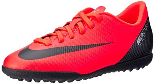 Nike VaporX XII Club CR7 TF, Botas de fútbol Unisex Adulto, Rojo (Bright Crimson/Black-Chrome 600), 38 EU