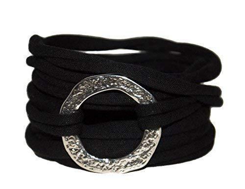 Endlosarmband zum Wickeln in schwarz onesize