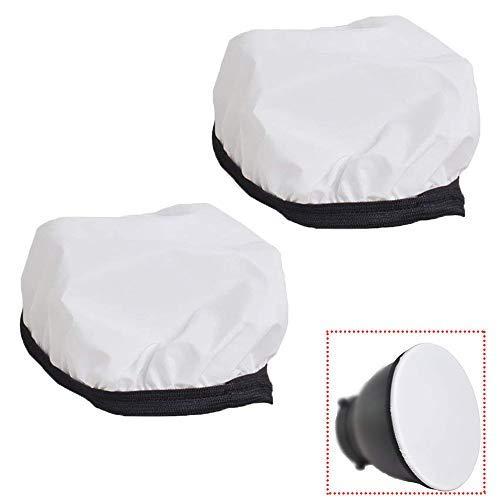 YUOCU7 inches /18cm Soft White Diffuser Sock for Photo Studio Standard Monolights Strobe Reflector-2 Pack (7 inch)