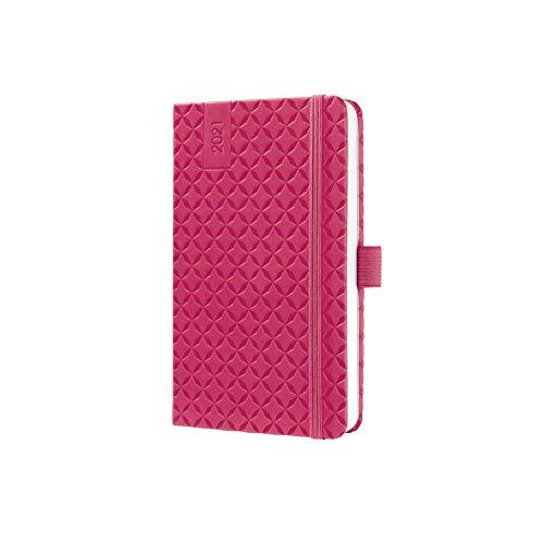 SIGEL J1104 Terminplaner Wochenkalender Jolie 2021, ca. A6, pink, mit fröhlichem Kalendarium, vielen Infos und praktischen Stickern - weitere Modelle