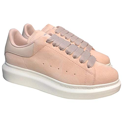Alexander McQueen Pink Suede Oversize Sneakers New SS21 (9)